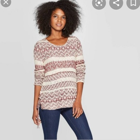 Women's Striped Crewneck Pullover Sweater